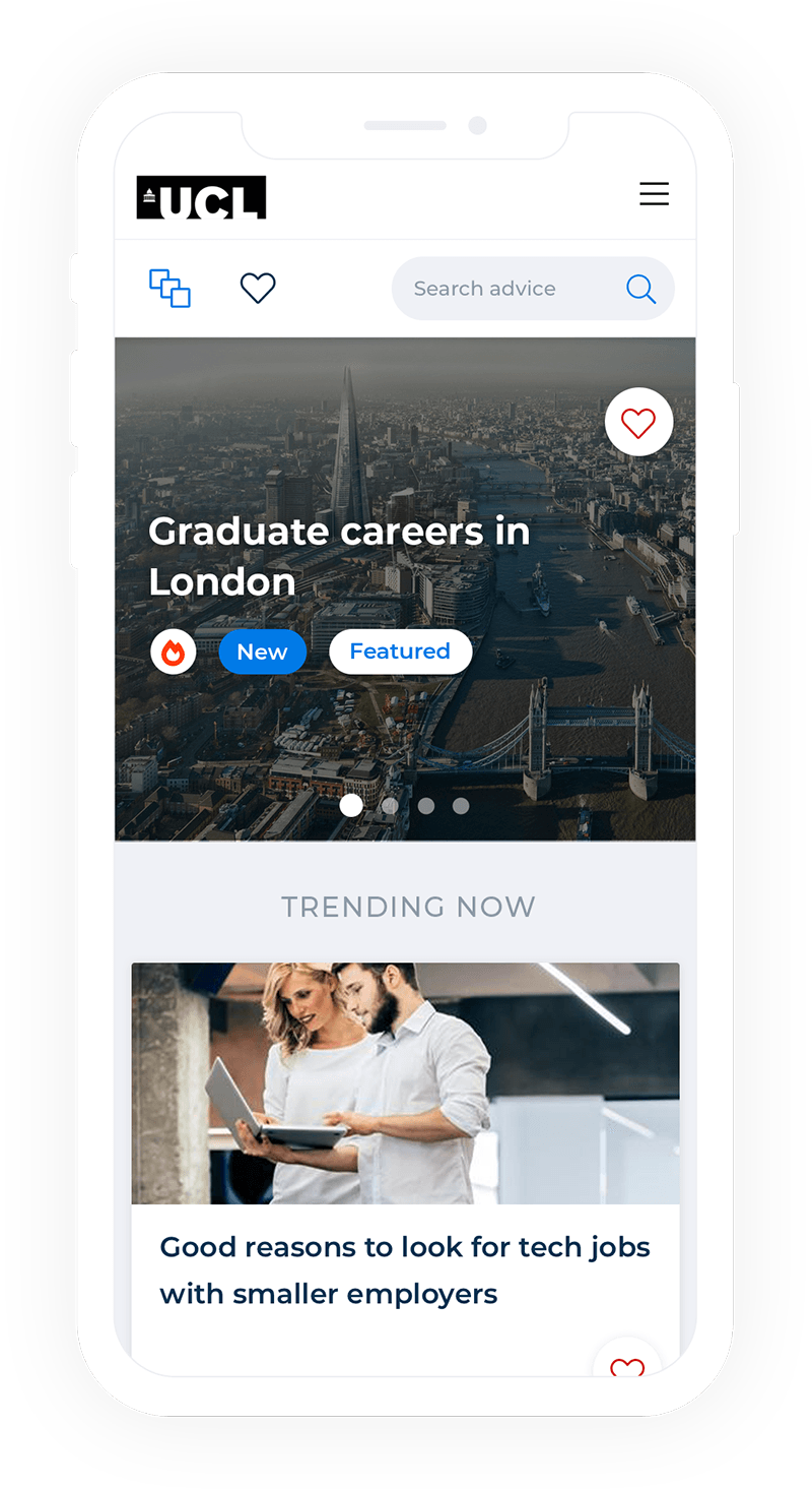 Careers discovery platform graphic